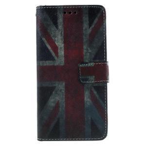 Wallet PU kožené pouzdro na mobil Samsung Galaxy Grand Prime - UK vlajka - 2