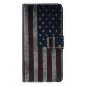 Wallet PU kožené pouzdro na mobil Samsung Galaxy Grand Prime - US vlajka - 2
