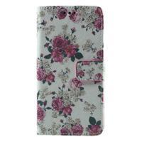 Wallet PU kožené pouzdro na mobil Samsung Galaxy Grand Prime - květiny - 2/7