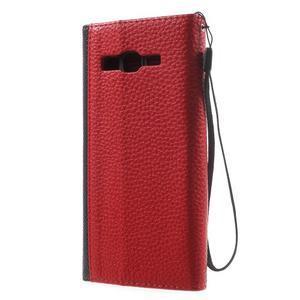 Writes elegantní pouzdro na Samsung Galaxy Grand Prime - červené - 2