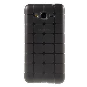 Square gelový obal na Samsung Galaxy Grand Prime - šedý - 2