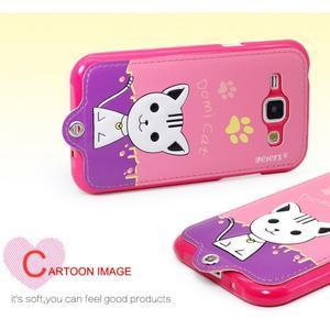 Domi gelové pouzdro s kočičkou na Samsung Galaxy J1 - rose - 2