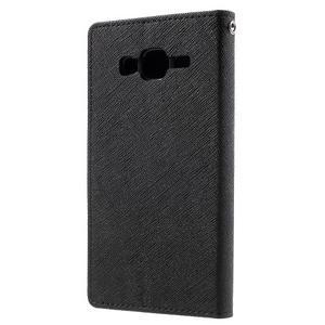 Diary stylové peněženkové pouzdro na Samsung Galaxy J5 - černé - 2