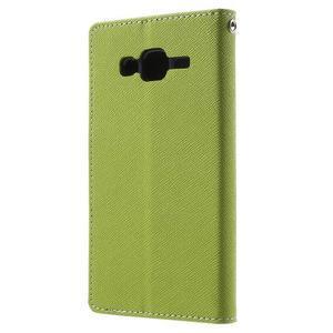 Diary stylové peněženkové pouzdro na Samsung Galaxy J5 - zelené - 2