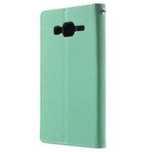 Diary stylové peněženkové pouzdro na Samsung Galaxy J5 - azurové - 2