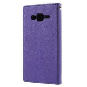 Diary stylové peněženkové pouzdro na Samsung Galaxy J5 - fialové - 2