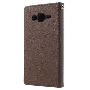 Diary stylové peněženkové pouzdro na Samsung Galaxy J5 - hnědé - 2