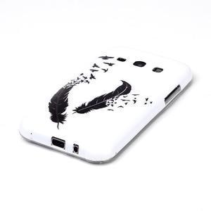 Gelový obal na mobil Samsung Galaxy J5 - ptačí peříčka - 2