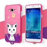 Gelový obal s kočičkou Domi s koženkovými zády na Samsung Galaxy J5 - rose - 2/6