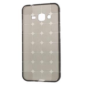 Square matný gelový obal na Samsung Galaxy J5 - šedý - 2