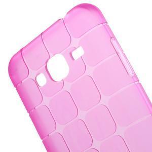 Square matný gelový obal na Samsung Galaxy J5 - rose - 2
