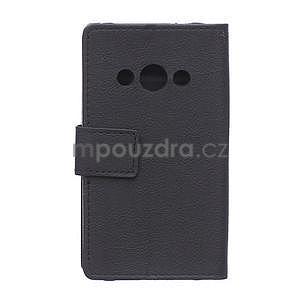 Peněženkové pu kožené pouzdro na Samsung Galaxy Xcover 3 - černé - 2