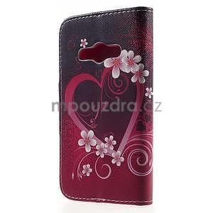 Vzorové peněženkové pouzdro na Samsung Galaxy Xcover 3 - srdce - 2