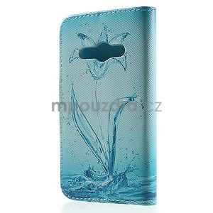 Vzorové peněženkové pouzdro na Samsung Galaxy Xcover 3 - vodní květ - 2