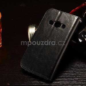 Koženkové peněženkové pouzdro na Samsung Galaxy Xcover 3 - černé - 2