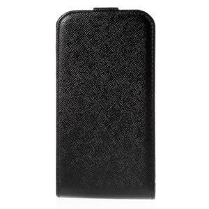 Flipové koženkové pouzdro na Samsung Galaxy Xcover 3 - černé - 2