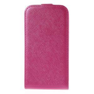 Flipové koženkové pouzdro na Samsung Galaxy Xcover 3 - růžové - 2