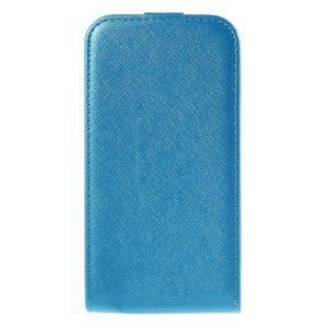 Flipové koženkové pouzdro na Samsung Galaxy Xcover 3 - modré - 2