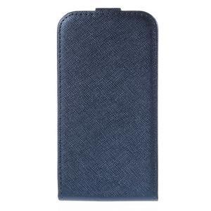 Flipové koženkové pouzdro na Samsung Galaxy Xcover 3 - tmavěmodré - 2