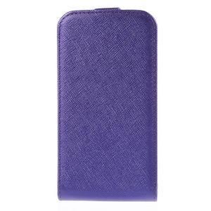 Flipové koženkové pouzdro na Samsung Galaxy Xcover 3 - fialové - 2