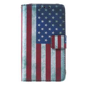 Stylové peněženkové pouzdro pro Samsung Galaxy Xcover 3 - US vlajka - 2