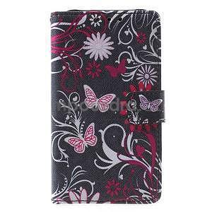 Stylové peněženkové pouzdro pro Samsung Galaxy Xcover 3 - motýlci - 2
