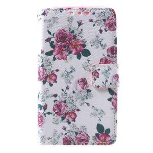 Stylové peněženkové pouzdro pro Samsung Galaxy Xcover 3 - květinová koláž - 2