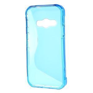 S-line gelový obal na Samsung Galaxy Xcover 3 - modrý - 2