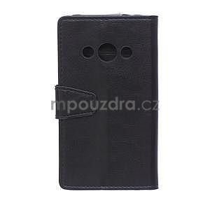 Černé koženkové pouzdro Samsung Galaxy Xcover 3 - 2