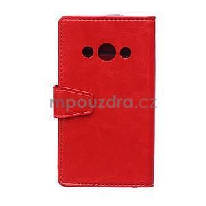 Červené koženkové pouzdro Samsung Galaxy Xcover 3 - 2
