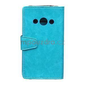 Modré koženkové pouzdro Samsung Galaxy Xcover 3 - 2