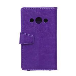 Fialové koženkové pouzdro Samsung Galaxy Xcover 3 - 2