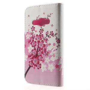 Vzorové peněženkové pouzdro na Samsung Galaxy Xcover 3 - kvetoucí větvička - 2