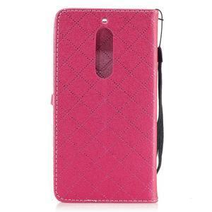 Hearts PU kožené pouzdro na Nokia 5 - rose - 2
