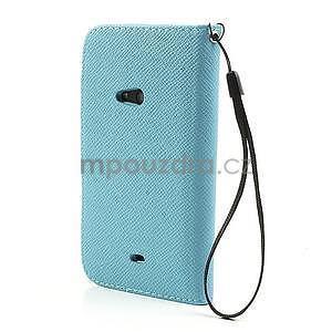Peněženkové pouzdro na Nokia Lumia 625 - světle modré - 2
