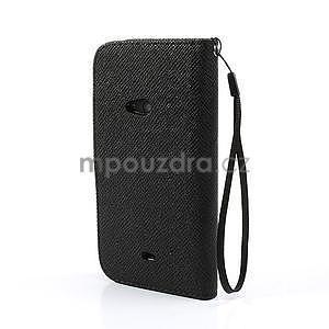 Peněženkové pouzdro na Nokia Lumia 625 - černé - 2