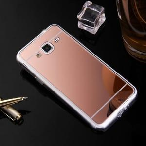 Zrcadlový gelový obal na Samsung Galaxy J3 (2016) - rosegold - 2
