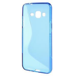 S-line gelový obal na mobil Samsung Galaxy J3 (2016) - modrý - 2