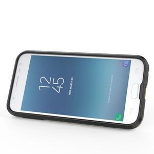 Combo odolný obal se stojánkem na Samsung Galaxy J3 (2017) - cyan - 2