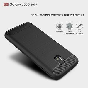 Carbo odolný obal na mobil Samsung Galaxy J3 (2017) - černý - 2