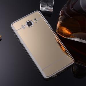 Zrcadlový gelový obal na Samsung Galaxy J5 (2016) - zlatý - 2