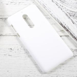 Pogumovaný plastový obal na mobil Nokia 5 - bílý - 2