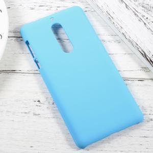 Pogumovaný plastový obal na mobil Nokia 5 - světlemodrý - 2