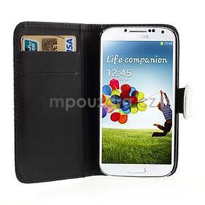 PU kožené peněženkové pouzdro s hadím motivem na Samsung Galaxy S4 - bílé - 2