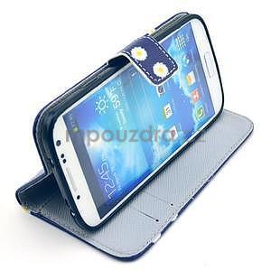 Pěněženkové pouzdro na Samsung Galxy S4 - kytičky be happy - 2
