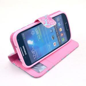 Pěněženkové pouzdro na Samsung Galxy S4 mini - květinová koláž - 2