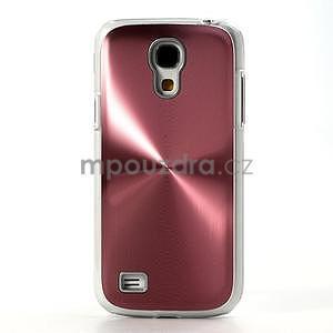 Metalický obal na Samsung Galaxy S4 mini - růžový - 2
