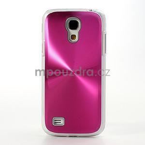 Metalický obal na Samsung Galaxy S4 mini - rose - 2