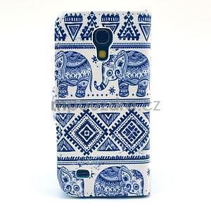 Peněženkové pouzdro na Samsung Galaxy S4 mini - sloni - 2