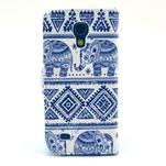 Peněženkové pouzdro na Samsung Galaxy S4 mini - sloni - 2/6